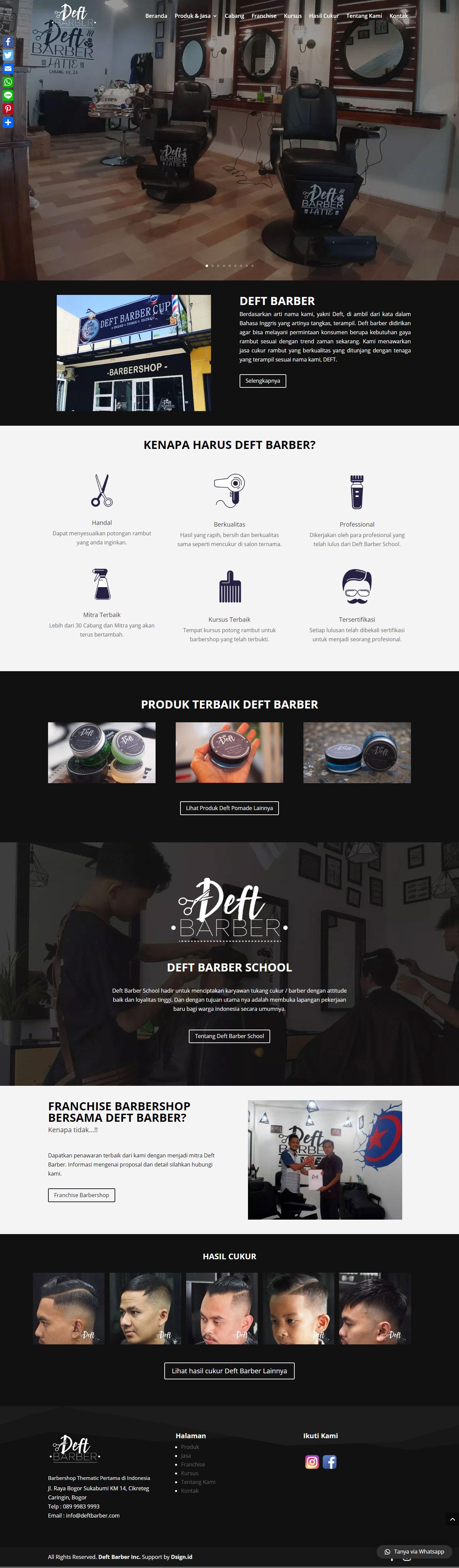 DeftBarber - Franchise Barbershop